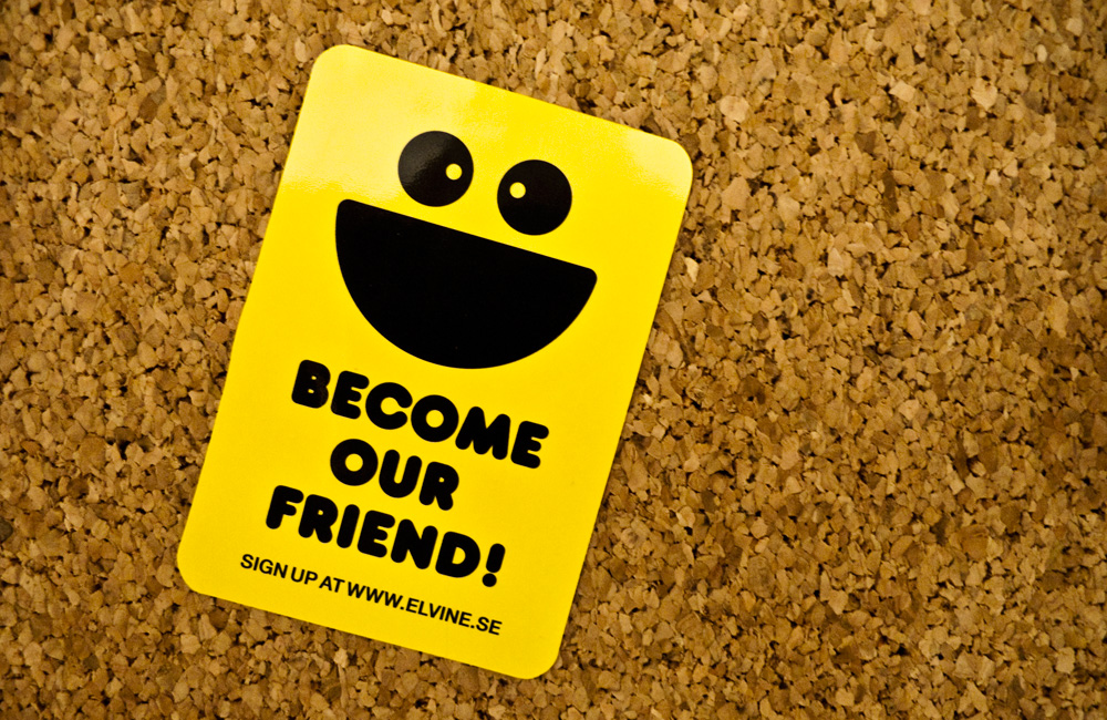 Become our friend!